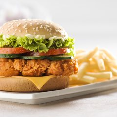 Advertising Chicken Burger